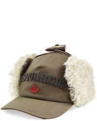 DSQUARED2 Baseball Cap With Fur