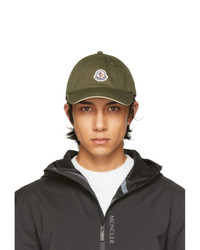 Moncler Green Tricolor Baseball Cap