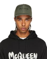 Alexander McQueen Khaki Graffiti Baseball Cap