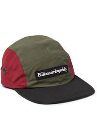 Billionaire Boys Club Logo Appliqud Colour Block Nylon Baseball Cap