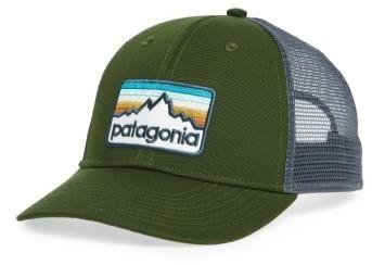 ... Olive Baseball Caps Patagonia Logo Badge Trucker Hat ... 42d14b14f38