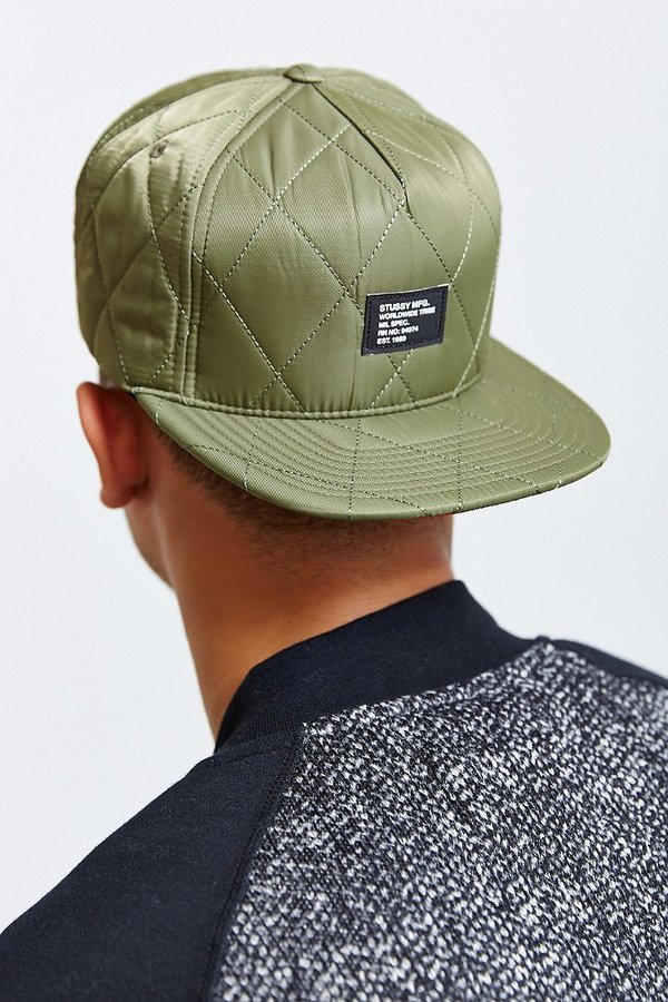 ... Urban Outfitters › Stussy › Olive Baseball Caps Stussy Quilted Foam Snapback  Hat ... 827fb8ce3bc