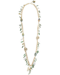 Rosantica Lisca Beaded Gold Tone Necklace Green
