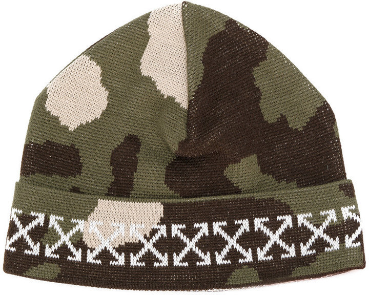 Off-White Arrows Camouflage Beanie
