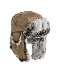 Crown Cap Genuine Rabbit Fur Trapper Hat