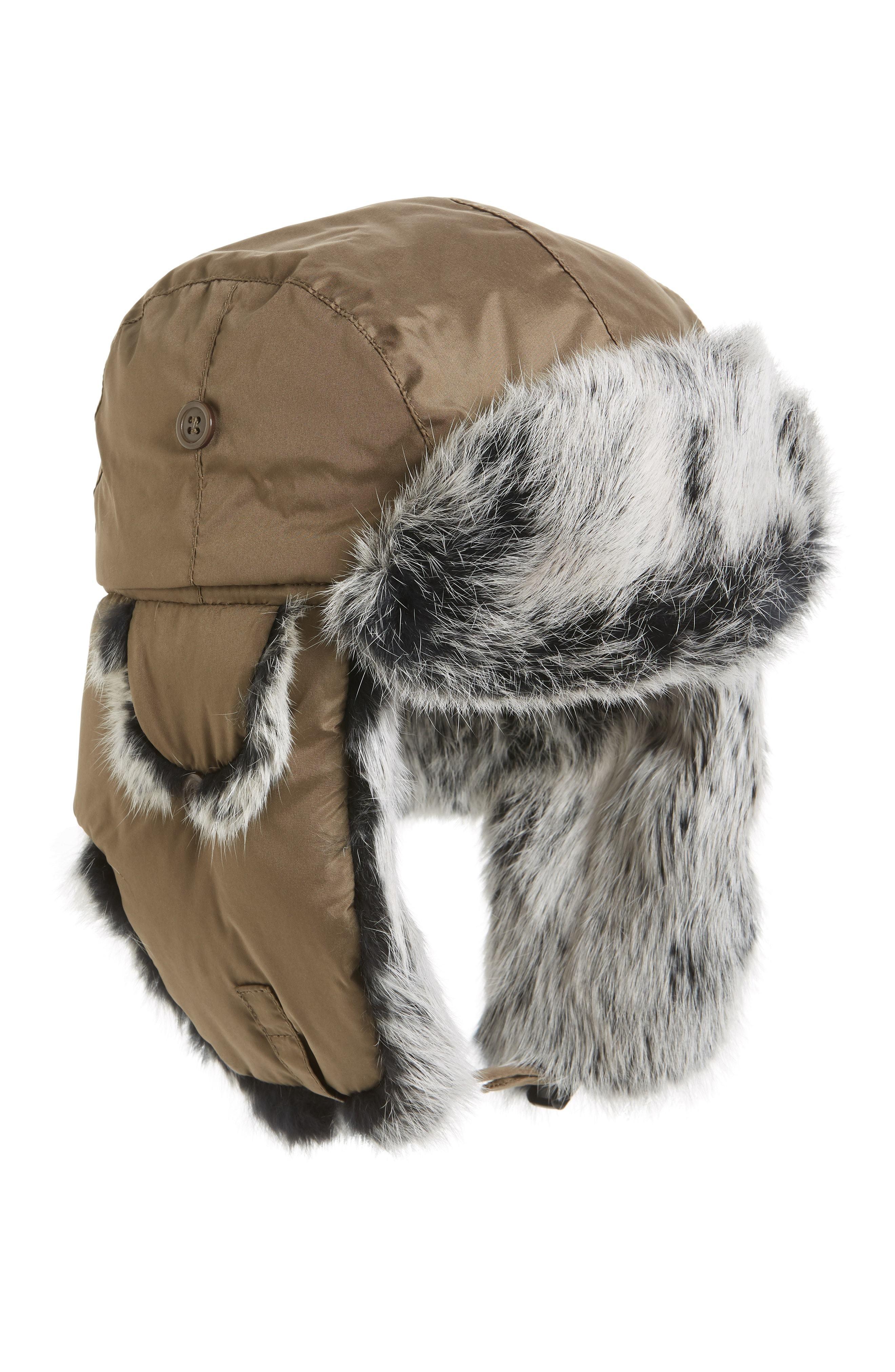 Crown Cap Genuine Rabbit Fur Trapper Hat