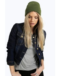 Boohoo Holly Ribbed Boyfriend Beanie