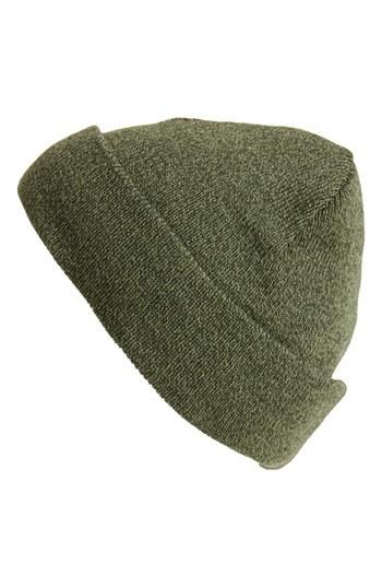 Topman Knit Beanie Green One Size
