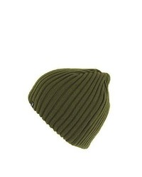 Wholesale Hats Jaxon Hats Ribknit Beanie Hat Olive Wholesale Pack