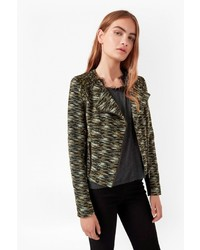French connection city camo biker jacket medium 1055592