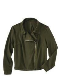 Mossimo Plus Size Moto Jacket Green 1