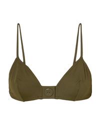 Eres Pop Sea Button Detailed Triangle Bikini Top