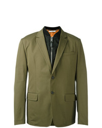 Givenchy Bomber Layer Blazer Jacket Green