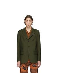 MSGM Green 3 Button Blazer