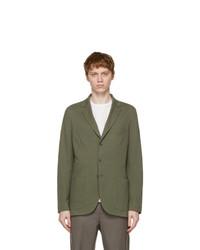 Loro Piana Green Silk Sweater Blazer