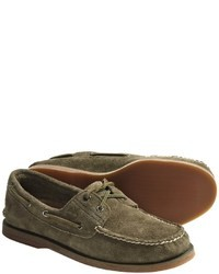 Olive Boat Shoes