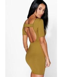 Boohoo Melissa Open Back Bodycon Dress