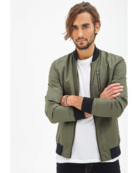 e48ff8fa3 Men's Olive Bomber Jackets from Forever 21 | Men's Fashion ...