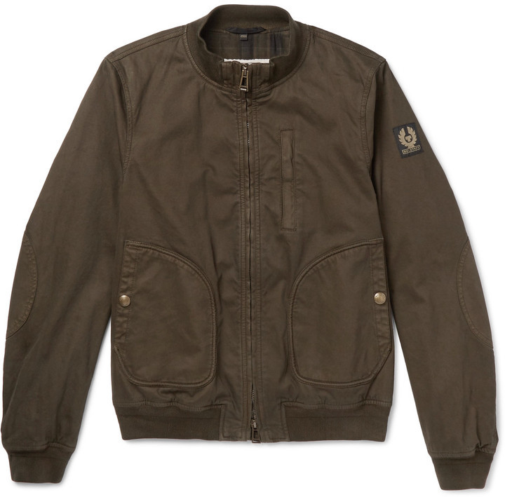 ... Belstaff Belstaff Pendine Waxed Stretch-Cotton Canvas Bomber Jacket