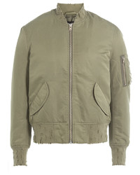 IRO Bomber Jacket With Distressed Detail