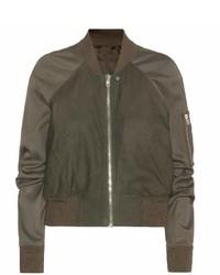 Rick Owens Brushed Leather Bomber Jacket