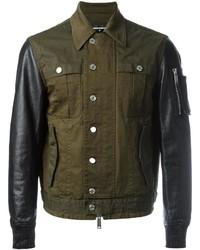 DSQUARED2 Shirt Effect Bomber Jacket
