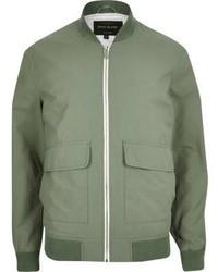 River Island Green Bomber Jacket