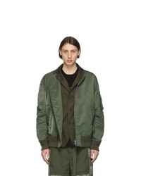 Sacai Green Ma 1 Bomber Jacket