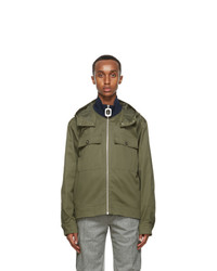JW Anderson Green Pull Zip Up Jacket