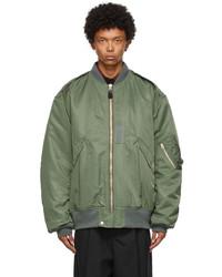 Junya Watanabe Green Script Bomber Jacket