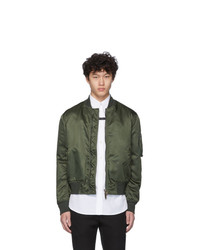 Givenchy Khaki Button Bomber Jacket