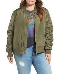 Steve Madden Plus Size Side Zip Bomber Jacket