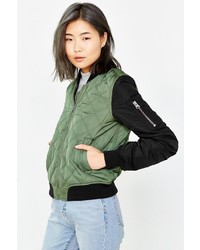 Silence & Noise Silence Noise Quilted Bomber Jacket