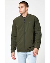 adidas bomber jacket olive