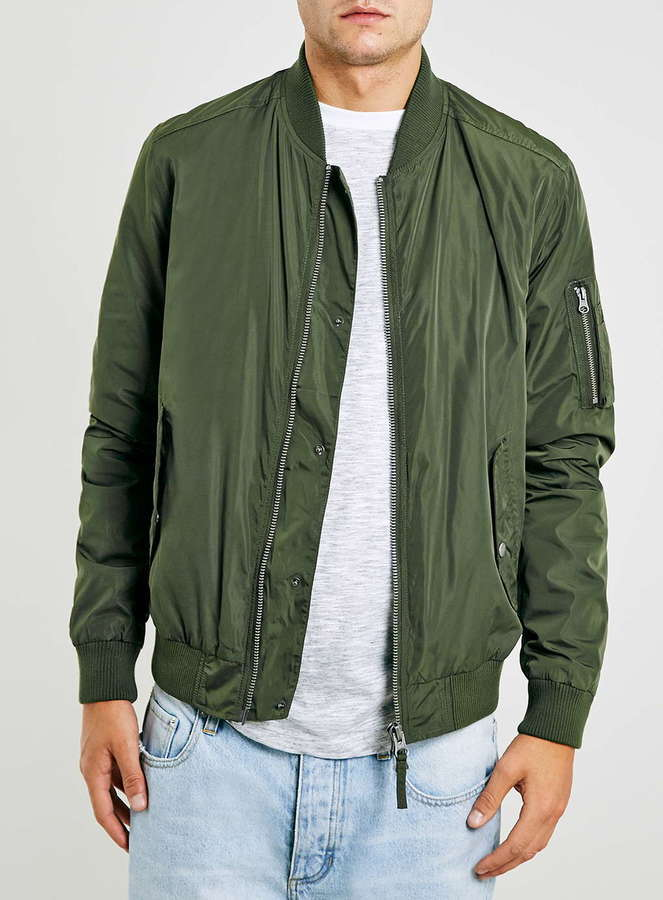 Topman Khaki Bomber Jacket | Where to buy & how to wear