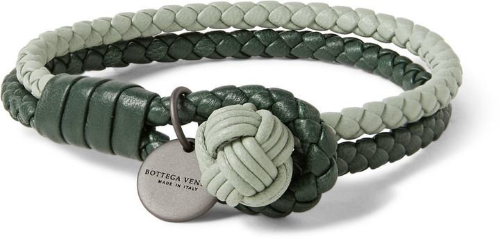 bottega intrecciato ayers nappa nero in and pin veneta bracelet