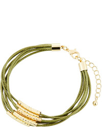 Fragments for Neiman Marcus Fragts Multi Row Cord Bracelet Olive