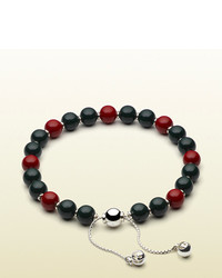 Gucci Bracelet With Green And Red Wooden Beads
