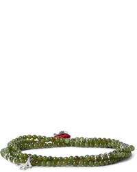 Isaia Saracino Jade Silver Wrap Bracelet