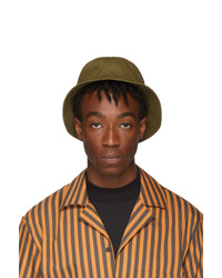 Acne Studios Green Face Bucket Hat