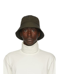 Jil Sanderand Green Faille Bucket Hat