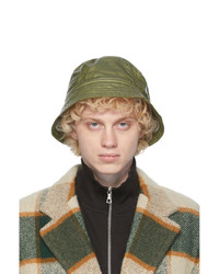 Dries Van Noten Green Quilted Bucket Hat
