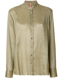 Olive Button Down Blouse