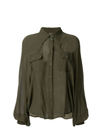 MM6 MAISON MARGIELA Sheer Military Style Shirt