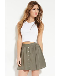 Forever 21 Button Front Mini Skirt