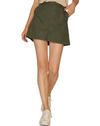 Sanctuary Venture Surplus Button Front Miniskirt