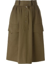 Yves Saint Laurent Vintage Military Skirt