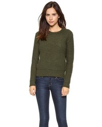 Olive Cable Sweater