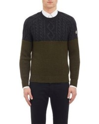 Moncler Cable Knit Colorblock Sweater