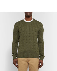 0d27fadd5309 ... Polo Ralph Lauren Cable Knit Cotton Sweater ...